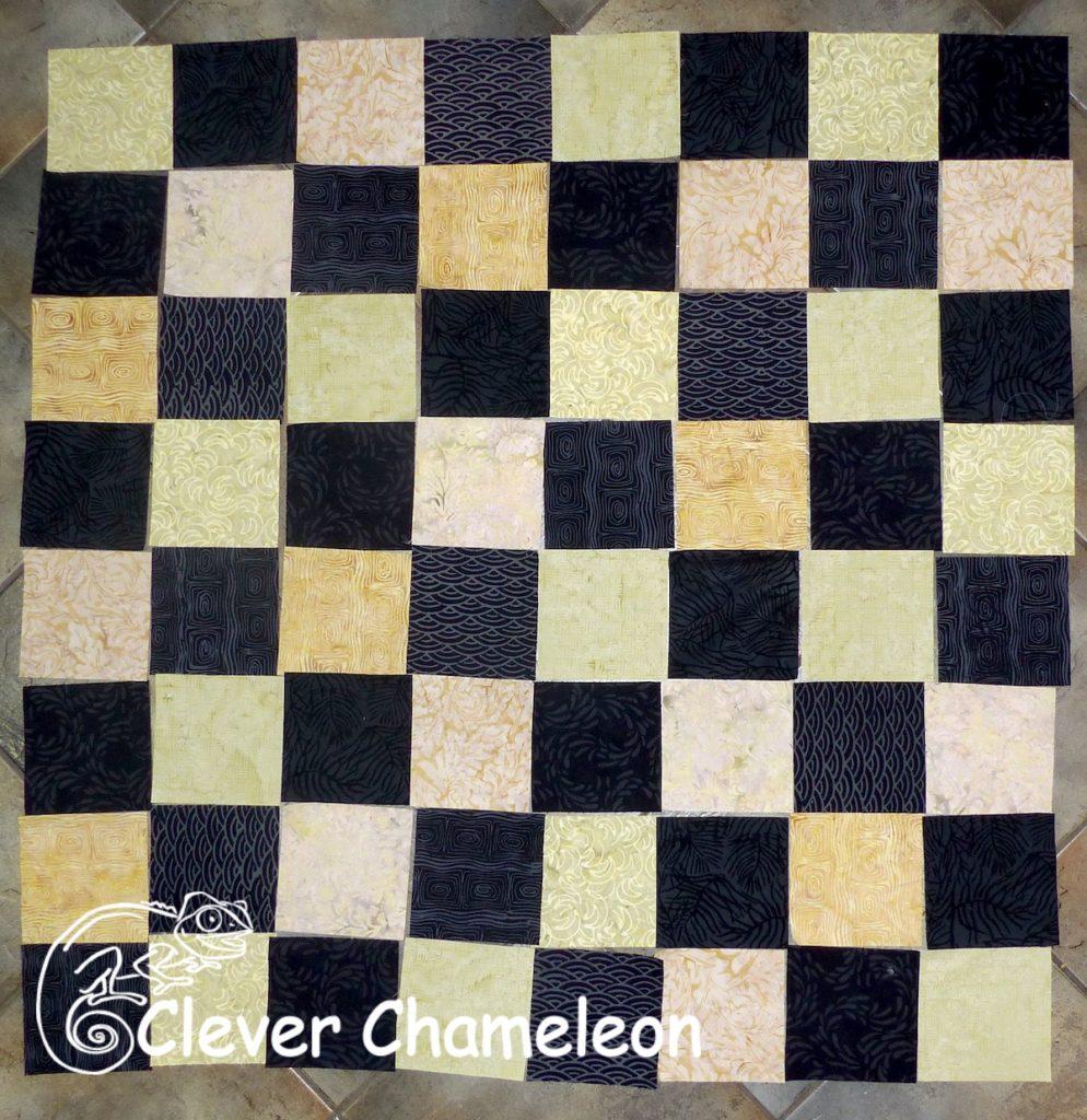 batik fabric checkerboard