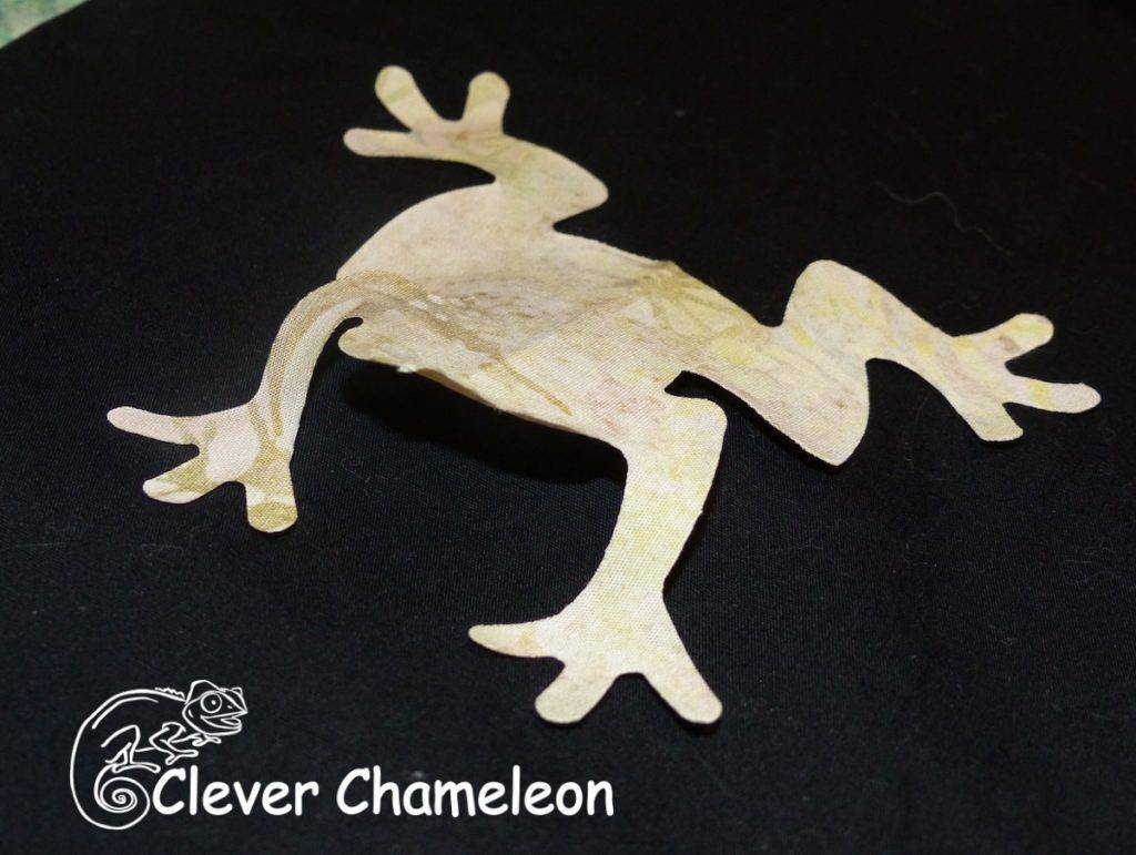 three-dimensional fabric frog