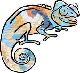 Waves Clever Chameleon logo